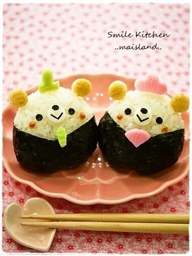 hina bear dall riceball for japanese girl's festival in March 3rd.