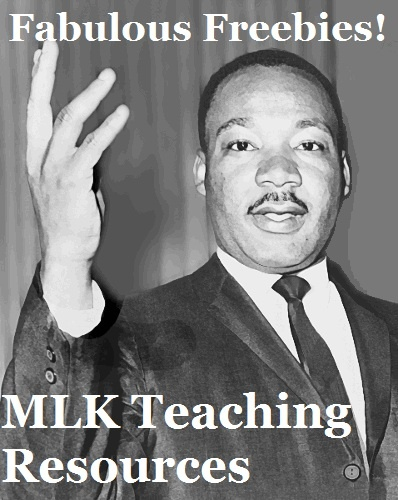 Fabulous Freebies: FREE Martin Luther King Jr. Teaching Resources by One Less Headache.