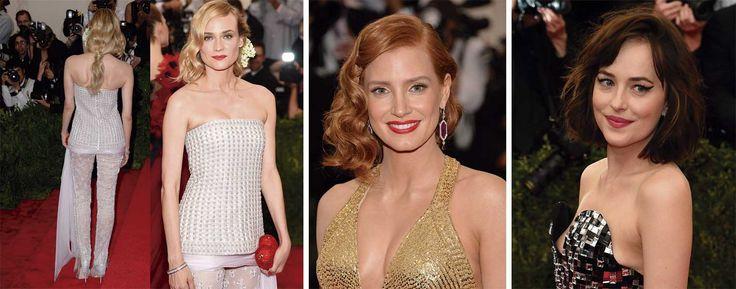 Diane Krugern, Jessica-Chastain  Dakota Johnson gala MET - Blow DryBar peluqueria madrid