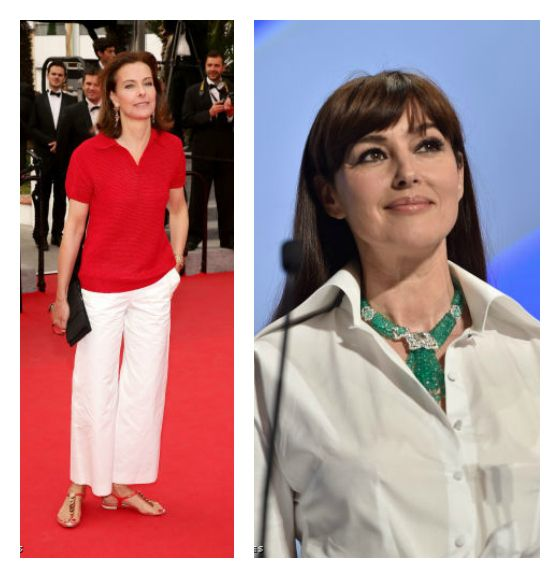 Ageless Style: Easy does it classic white separates by way of Monica Bellucci and Carole Bouquet