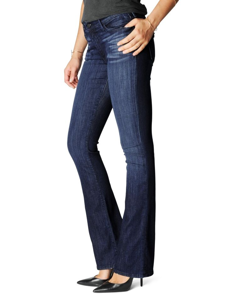 BECCA - MID RISE BOOTCUT DENIM WITH BACK FLAP - True Religion