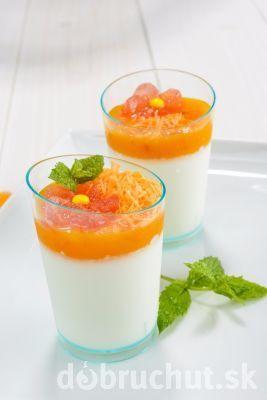 ** Vanilkový parfai s pomerančem **