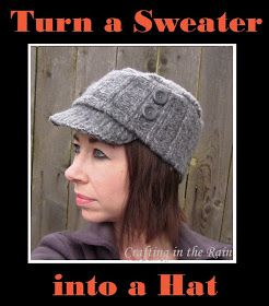 Sweater Hat Tutorial--Kind Of | Crafting in the Rain