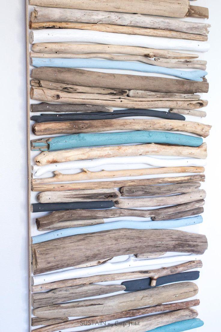 DIY Coastal Decor – bemalte Treibholz Wandkunst | Drift Holzhandwerk Projekt | See…