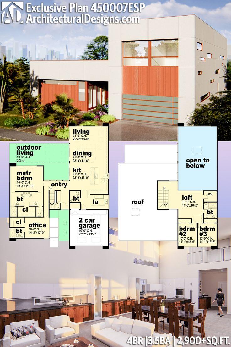 Architectural Designs Modern House Plan 450007ESP gives