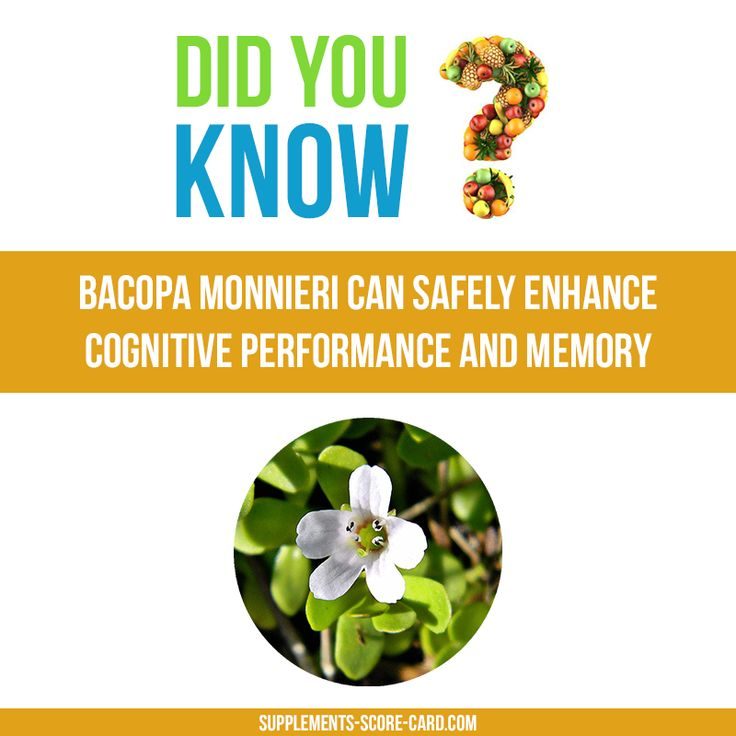 Bacopa Monnieri for brain power  Bacopa Monnieri can safely enhance cognitive performance and memory