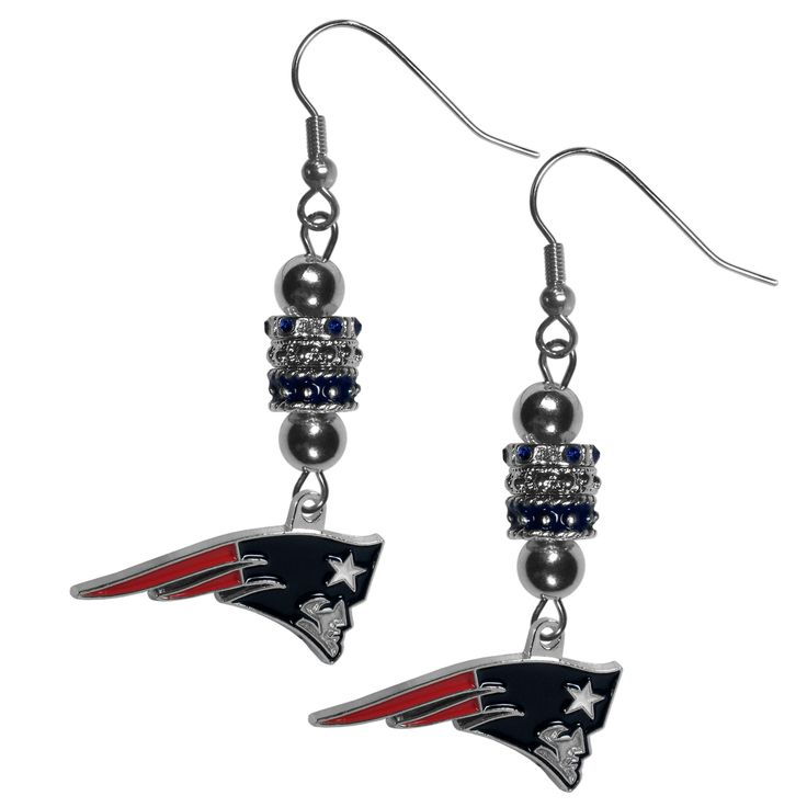 "Checkout our #LicensedGear products FREE SHIPPING + 10% OFF Coupon Code ""Official"" New England Patriots Euro Bead Earrings - Officially licensed NFL product 3 euro style beads Hypoallergenic fishhook posts Stylish enough for everyday Perfect accessory for a New England Patriots fan - Price: $19.00. Buy now at https://officiallylicensedgear.com/new-england-patriots-euro-bead-earrings-febe120"