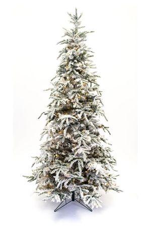 """9ft. flocked Balsam prelit Christmas Tree - 60"""" diam. base  $279.00"""