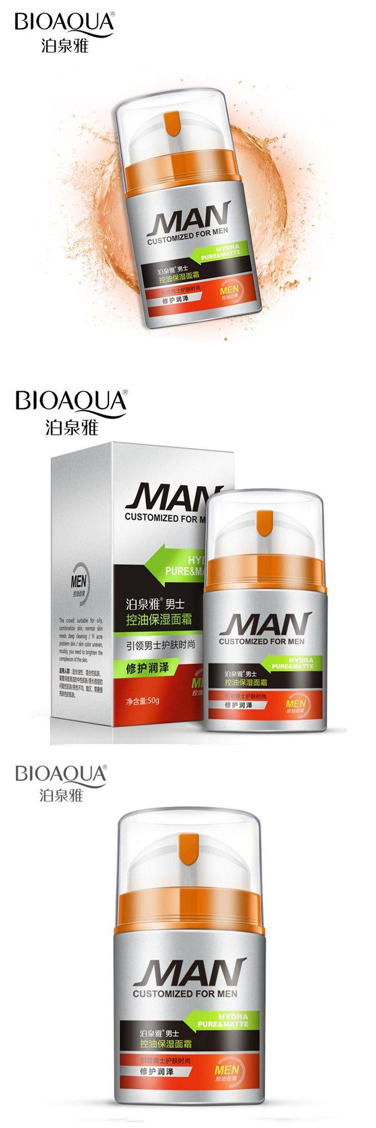 [Visit to Buy] BIOAQUA Brand Men Skin Care Deep Hydrating Moisturizing Oil-control Whitening Face Cream Anti Wrinkle Anti-Aging Day Cream 50g #Advertisement