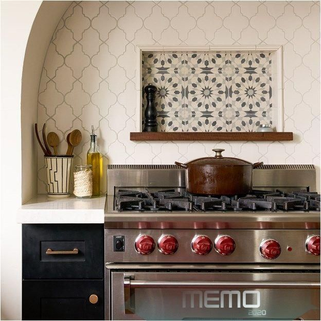 Jan 21 2020 Incorporating A Stove Backsplash Into Your Kitchen Design Is Practi Stove Backsplash Arabesque Tile Backsplash Kitchen Kitchen Backsplash Trends