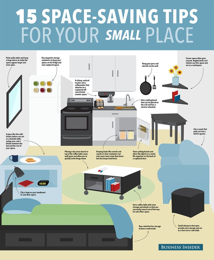 15 ways to save space in your small apartment small for Good ideas for small apartments