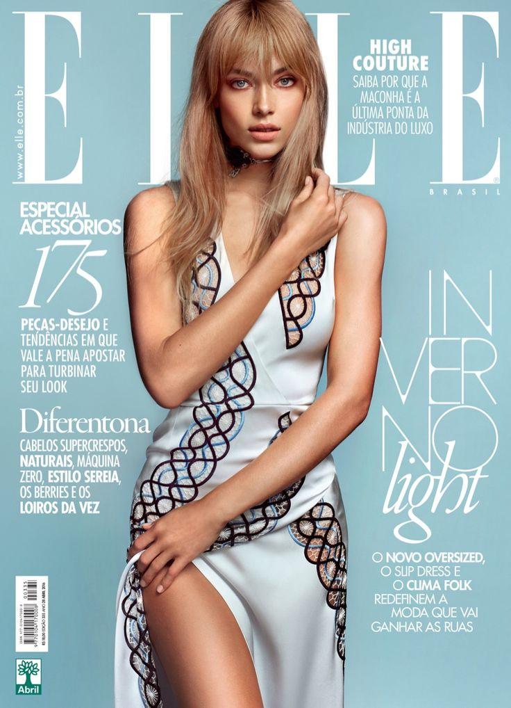 Hannah Ferguson on ELLE Brazil April 2016 Cover