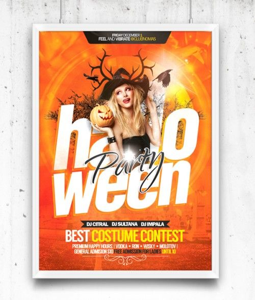 Nice Halloween Party Flyer Free Template PSD. Halloween Party Flyer Free Template PSD file. A great Halloween Flyer party poster or invitation design for your next party. Editable colors text effects etc. you only need to place your photo and edit the text. Enjoy! Fonts used: Helvetica Family Franklin Gothic Family  #brochure #creative #design #downloadpsd #flyer #free #freepsd #Freebies #fresh #graphics #halloween #HD #hi-res #holiday #modern #original #party #poster #print #psd #Quality…