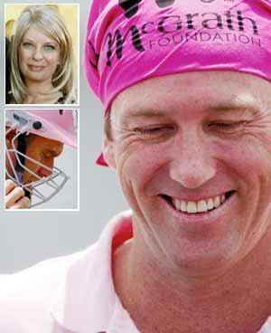 Machomen in pink: the first Jane McGrath day. Aus v Pak, NY test, Sydney, '09.