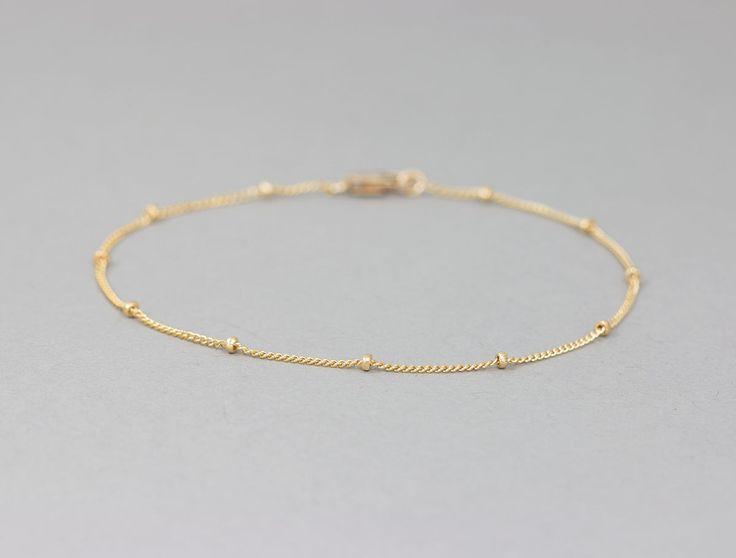 Delicate Gold Bracelet / Dainty Chain Bracelet / by LayeredAndLong, $17.00