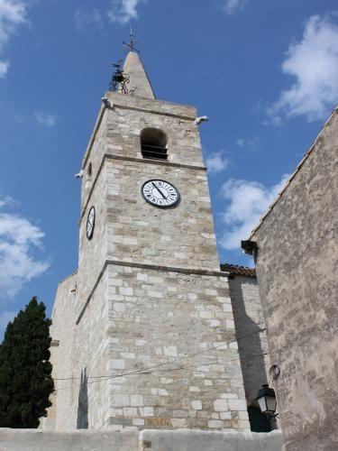 Ouveillan: Church of St. John the Evangelist - Belltower - France-Voyage.com