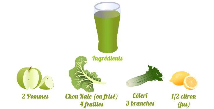 Détox jour 1 : jus vert fruité à l'extracteur de jus