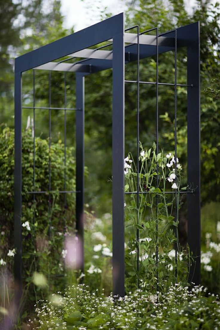 Custom trellis to match pergola landscapes by earth design - Garden Arbor Garden Trellis