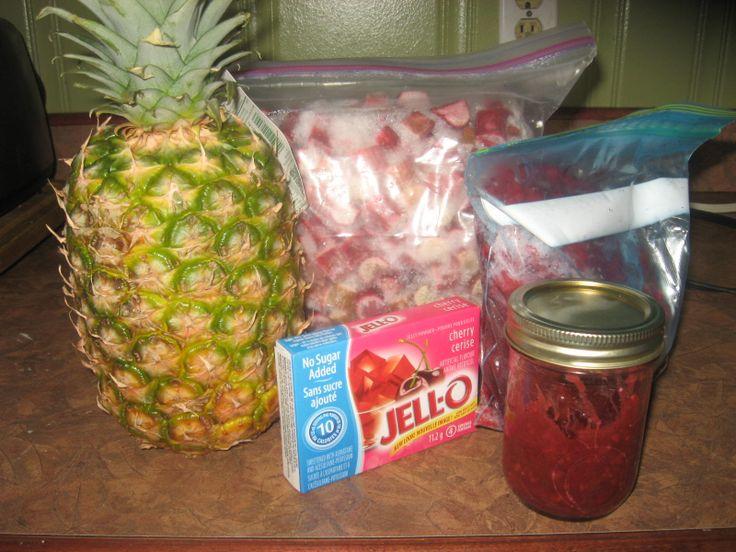 Rhubarb pineapple raspberry cherry Jam the best ever 3cps rhubarb w1 ...