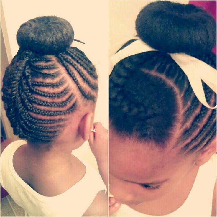Fabulous 1000 Images About Natural Kids Cornrow Buns On Pinterest Short Hairstyles For Black Women Fulllsitofus