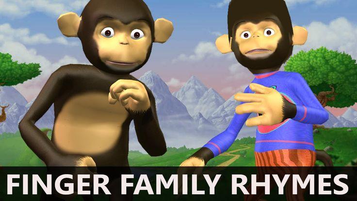 Monkeys and Ducks singing Kids Songs   Finger Family Song for children, ...