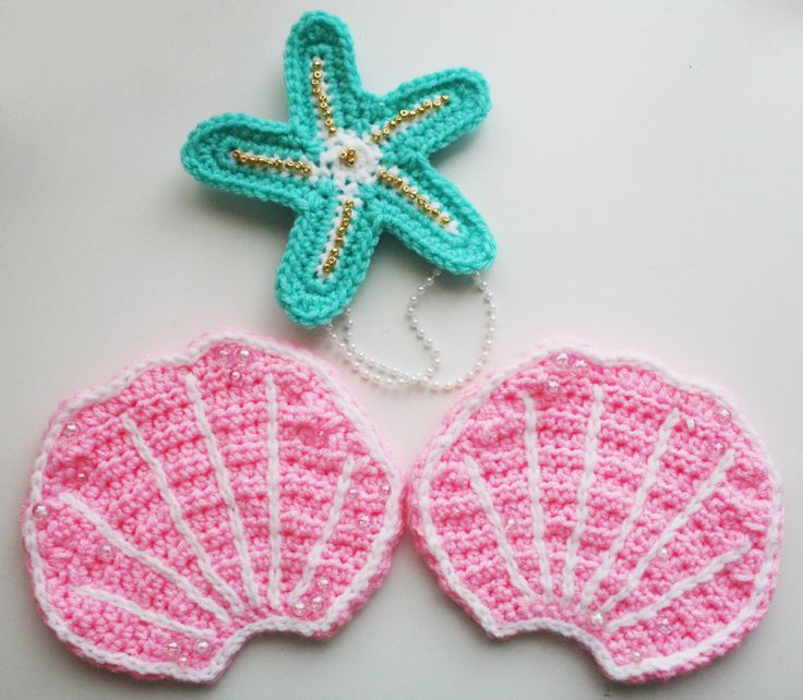 Crochet Mermaid Accessories #Crochet #Mermaid