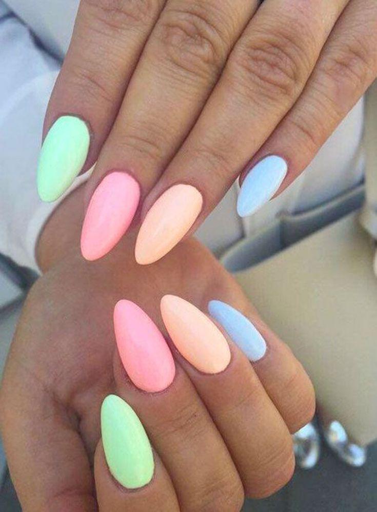 35+ Extrem süße Bonbonfarben Nail Art Design – Nagel