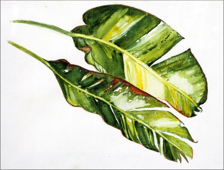 Paintings Of Green Leaves