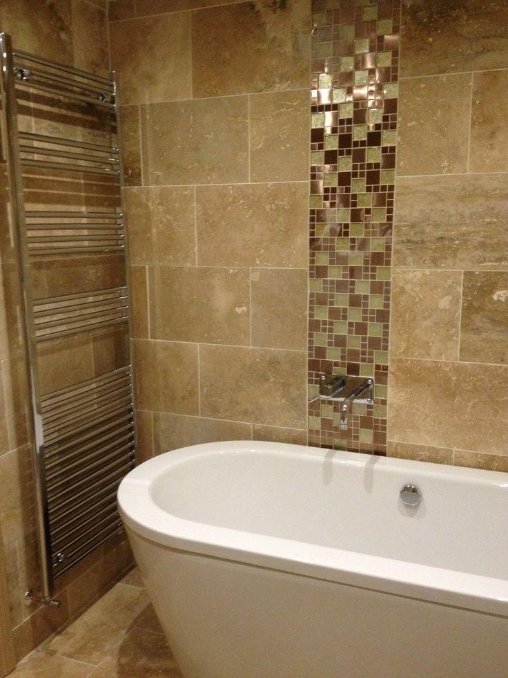 Bathroom Tile: En-suite - Bath - Tiles - Chrome - Radiator