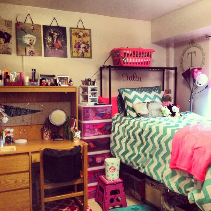 Decorating Ideas > My Notre Dame Dorm Room Chevron, Monogram, Neon Pink And  ~ 003811_Green Dorm Room Ideas