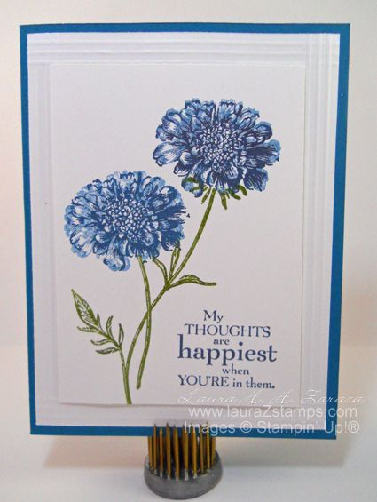 Blue Flowers by stampinggoose - Cards and Paper Crafts at Splitcoaststampers