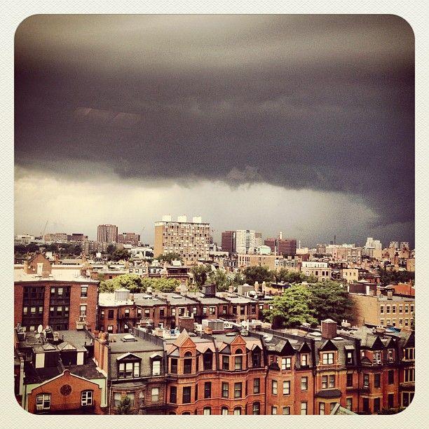 Tornado cloud over Boston