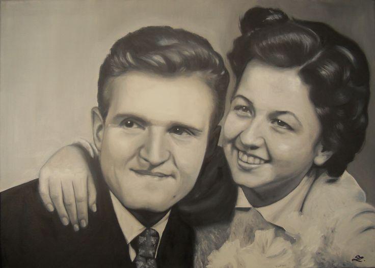 Portréty na zakázku Olej na plátně 50x70cm