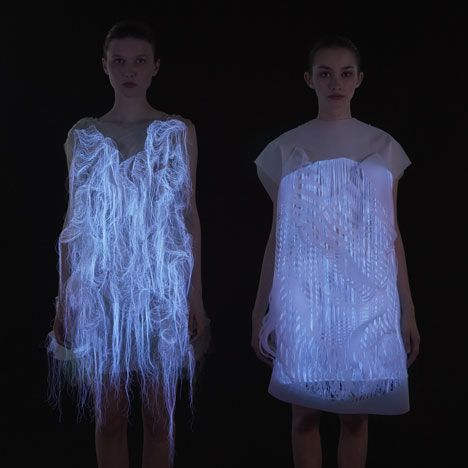 Ying Gao- The gaze-activated dresses are embedded with eye-tracking technology that responds to an observer's gaze by activating tiny motors to move parts of the dresses in mesmerising patterns. (article+video)