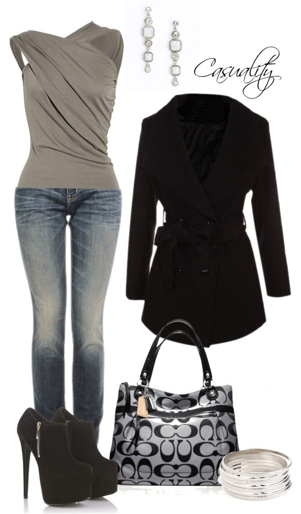 """""""Untitled #30"""" by casuality on Polyvore - (not so sure I could walk in those shoes though)"""
