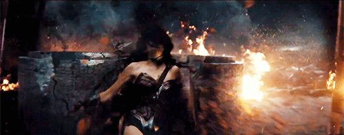 Wonder Woman from the Batman v Superman Dawn of Justice trailer.