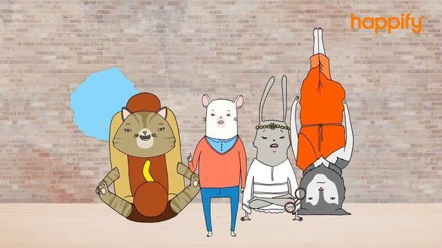 A Happify rajzfilmje. Hogyan meditáljunk? Miért meditáljunk? Mennyit…