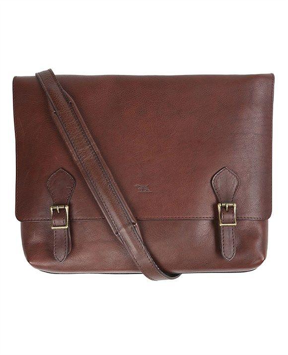 Men's luggage & bags | Men's weekend bags, leather luggage, travel luggage | Rodd & Gunn - Woodstock Satchel $699