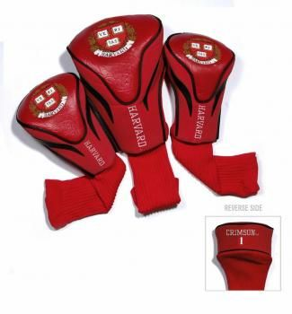 Harvard Crimson Golf Headcover Set
