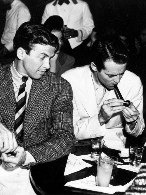 James Stewart and Henry Fonda at Slapsie Maxie's Cafe, Los Angeles, 1939  viaorsons