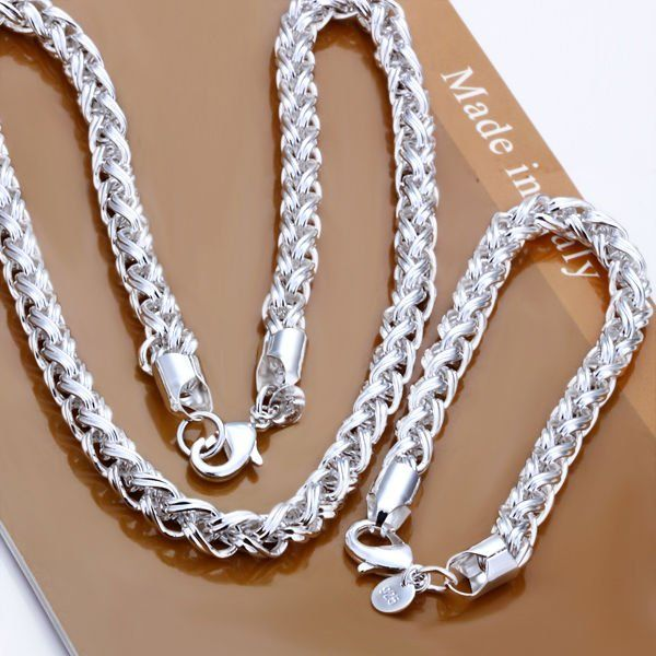 Cheap jewelry us, Buy Quality jewelry necklace directly from China jewelry wholesaler Suppliers: 	Description:			925 sterling silver jewelry set				 1. one piece necklace+1 piece bracelets				  2.&
