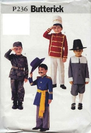 Butterick Pattern 3558 or BP236 Boys Assorted (4) Costume ...