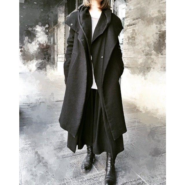 """sn0913: """"Coat:Lost&Found Cardigen:Poeme Bohemien Pants:Yohji Yamamoto Shoes:ccp """""""