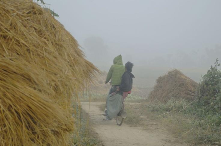 Nepalska wioska na południu kraju przy Chitwan