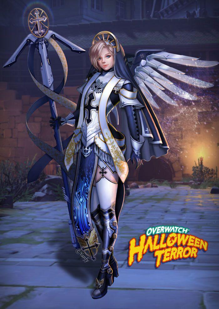 New Overwatch Halloween Skins 2020 Mercy ArtStation   overwatch halloween mercy, yan fy   Mercy overwatch