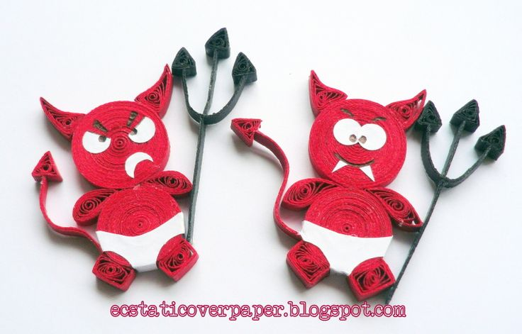 *QUILLING ~ The Devil Pair