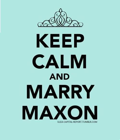 I did read the book (my bad)! THE SELECTION!!!!!!!!!! MAXON!!!!!