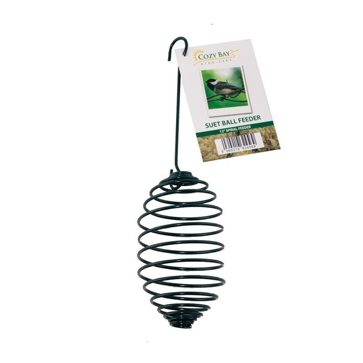 http://www.bonsoni.com/green-5-inch-plastic-spiral-suet-feeder-garden-outdoor-furniture  5-inch SPIRAL SUET BALL FEEDER - This Fabulous feeder is ideal for Suet Balls, made from steel and comes with a metal roof for weather-protection. Hang it up anywhere in your garden to attract the birds you love!    http://www.bonsoni.com/green-5-inch-plastic-spiral-suet-feeder-garden-outdoor-furniture