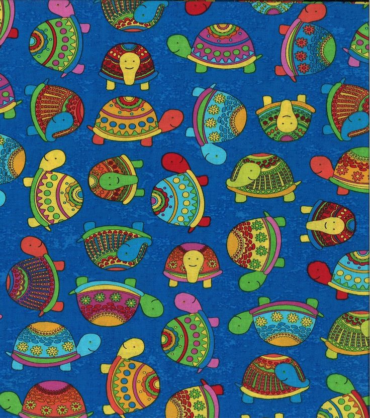 J isn 39 t this adorable novelty cotton fabric turtle for Kids novelty fabric