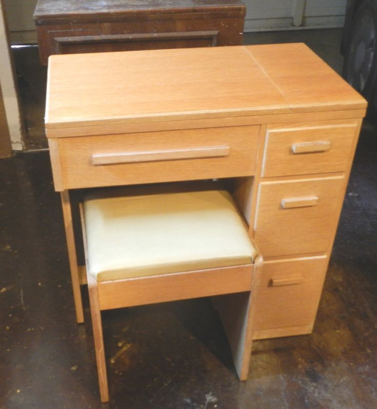 Singer 3 Drawer Sewing Machine Cabinet No 65 Home Mid